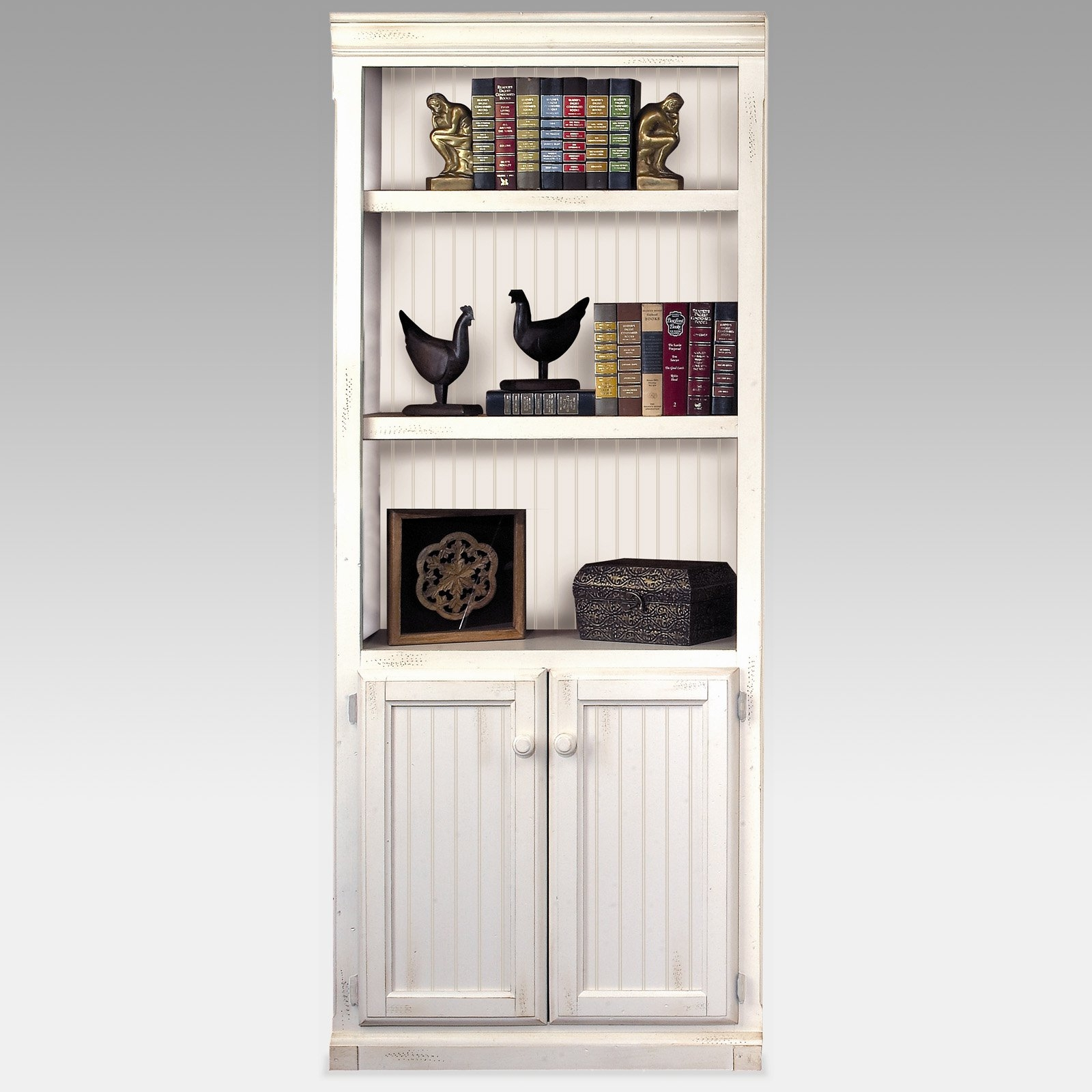 White Bookshelves With Cabinets Creative Cabinets Decoration Pertaining To Bookcase With Bottom Cabinets (Photo 4 of 15)