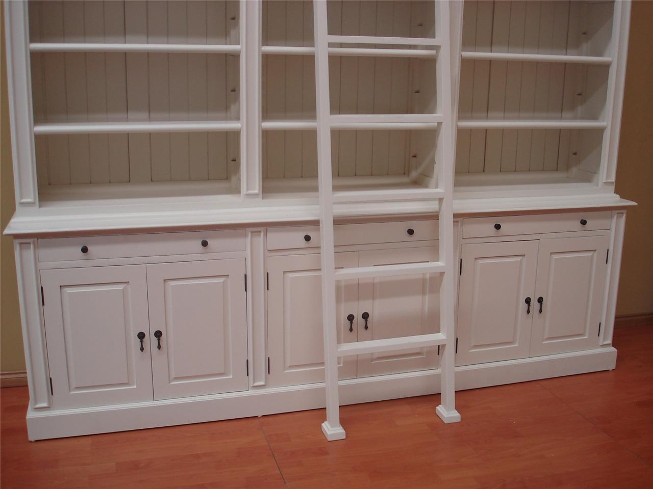 White Bookshelves With Cabinets Creative Cabinets Decoration With Library Cupboards (Image 15 of 15)