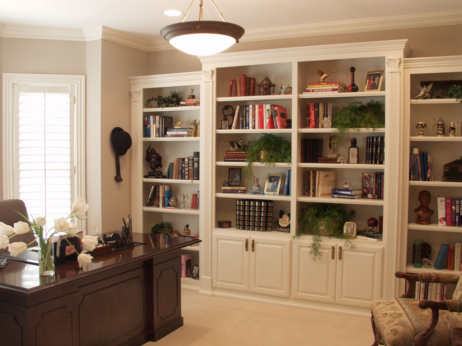 White Cabinets And Bookshelf Creative Cabinets Decoration Within Bookcase With Bottom Cabinets (Image 15 of 15)