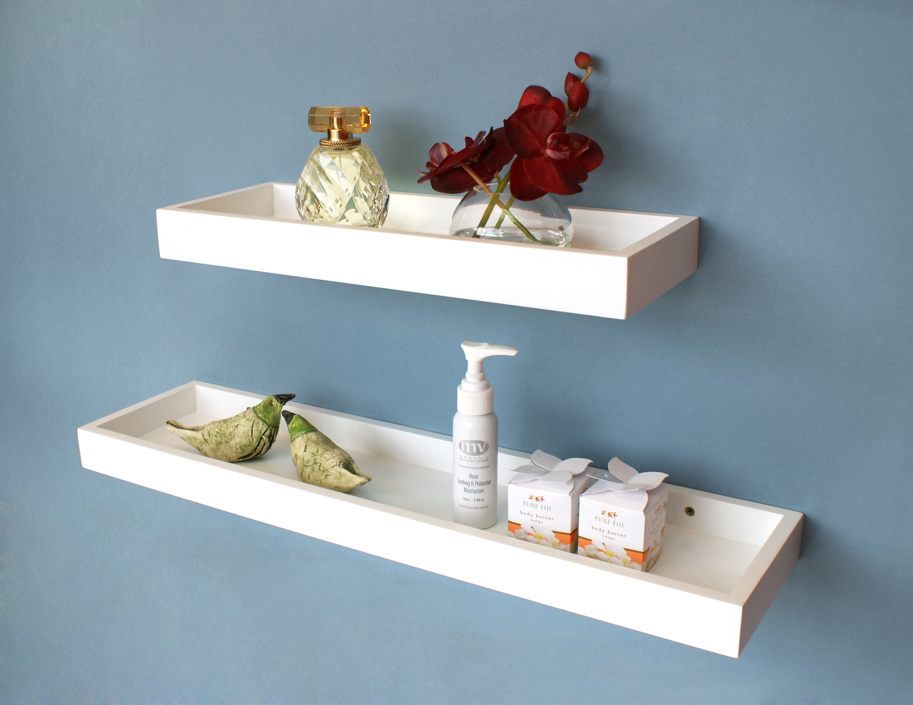 White Floating Multi Shelf 400x150x40mm Mastershelf Within Floating Shelf 40cm (Image 14 of 15)