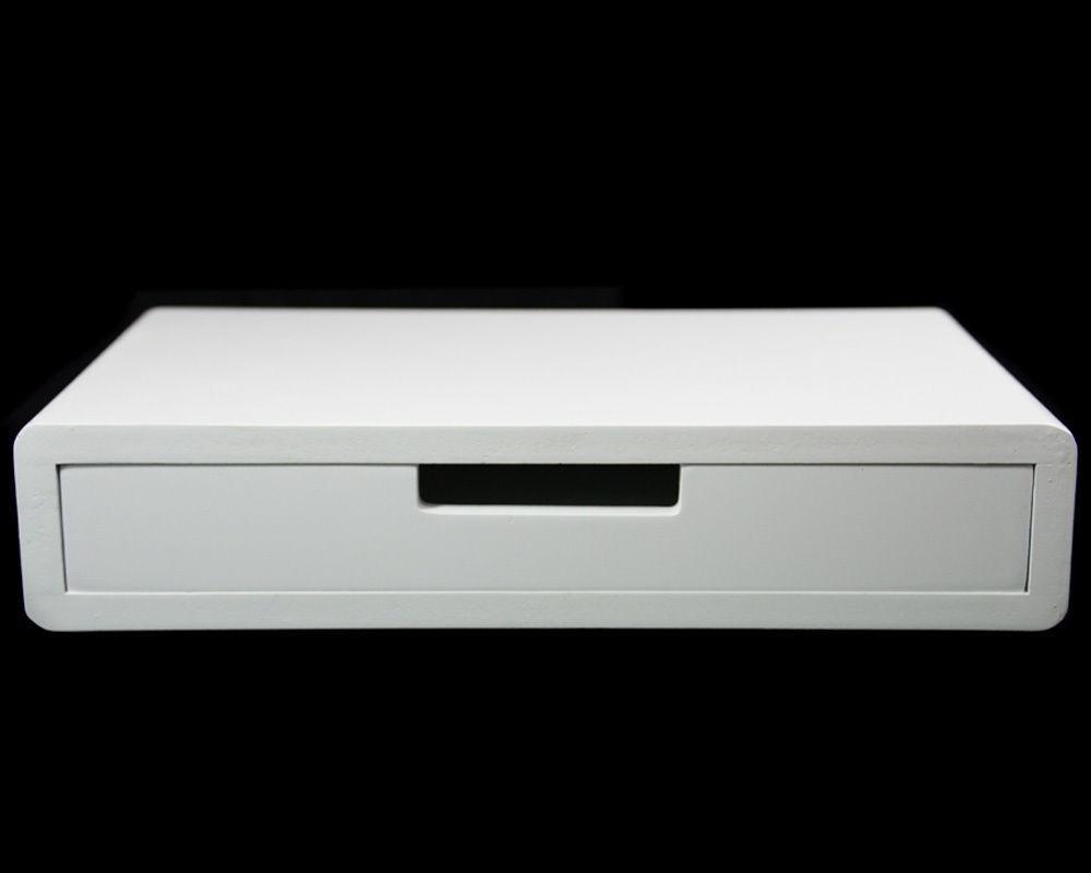 White Floating Shelf Drawer Wall Cube Display Storage Shelving Within 40cm Floating Shelf (Image 15 of 15)