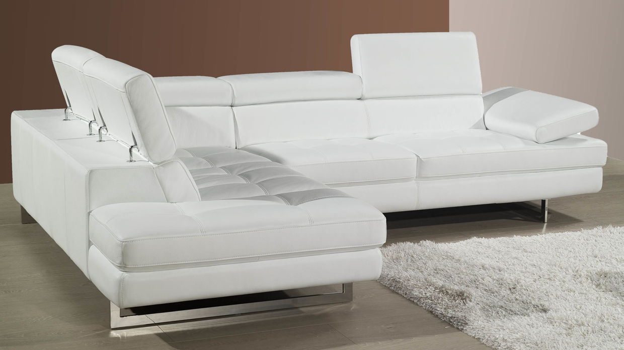 White Leather Corner Sofa White Real Leather Sofa Sofa White Intended For White Leather Corner Sofa (Image 15 of 15)