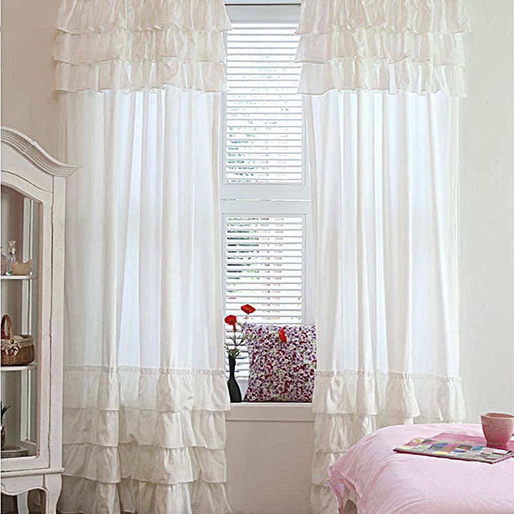 White Ruffle Curtain In White Ruffle Curtains (View 2 of 25)