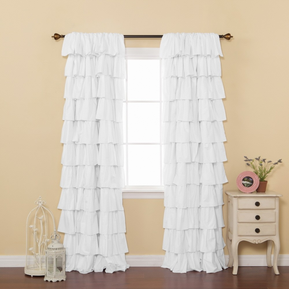 White Ruffle Curtains Design Ideas And Decor Intended For White Ruffle Curtains (View 6 of 25)