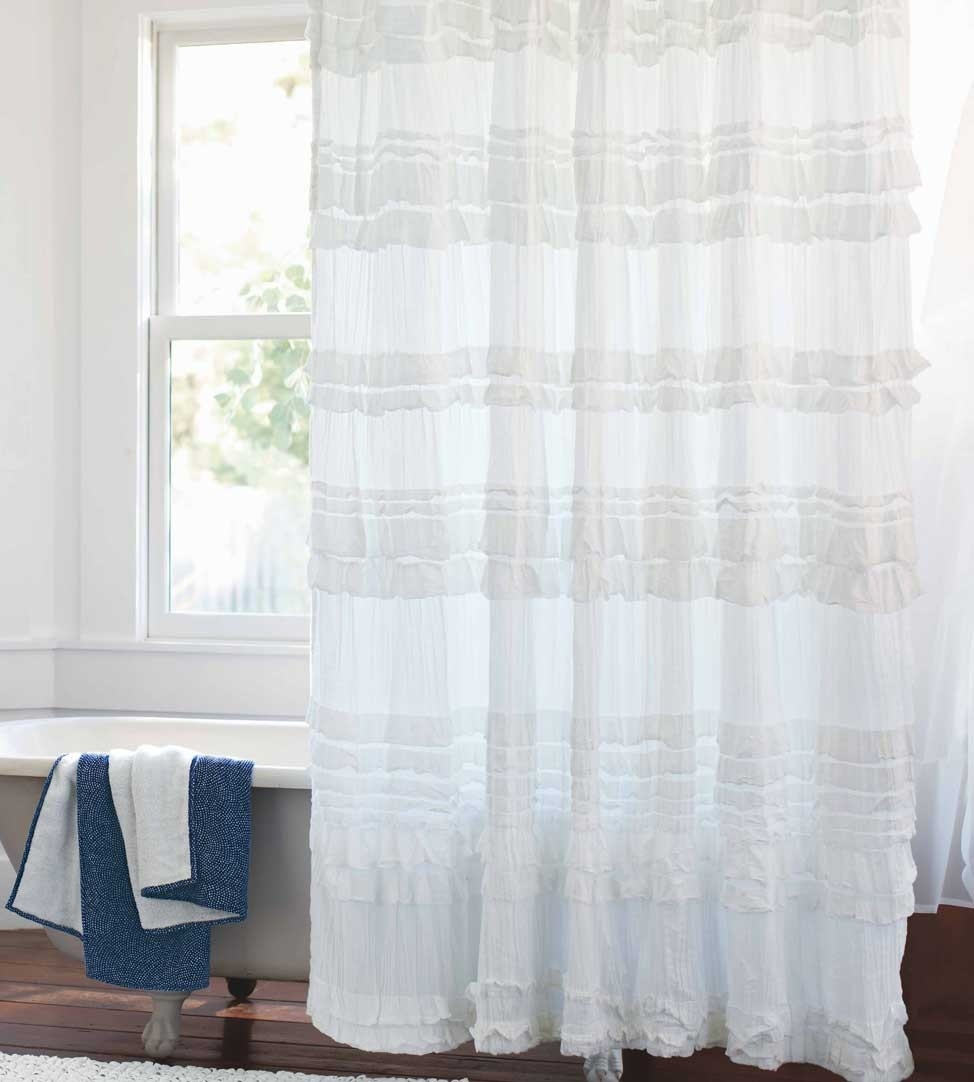 White Ruffle Curtains Design Ideas And Decor Pertaining To White Ruffle Curtains (View 11 of 25)