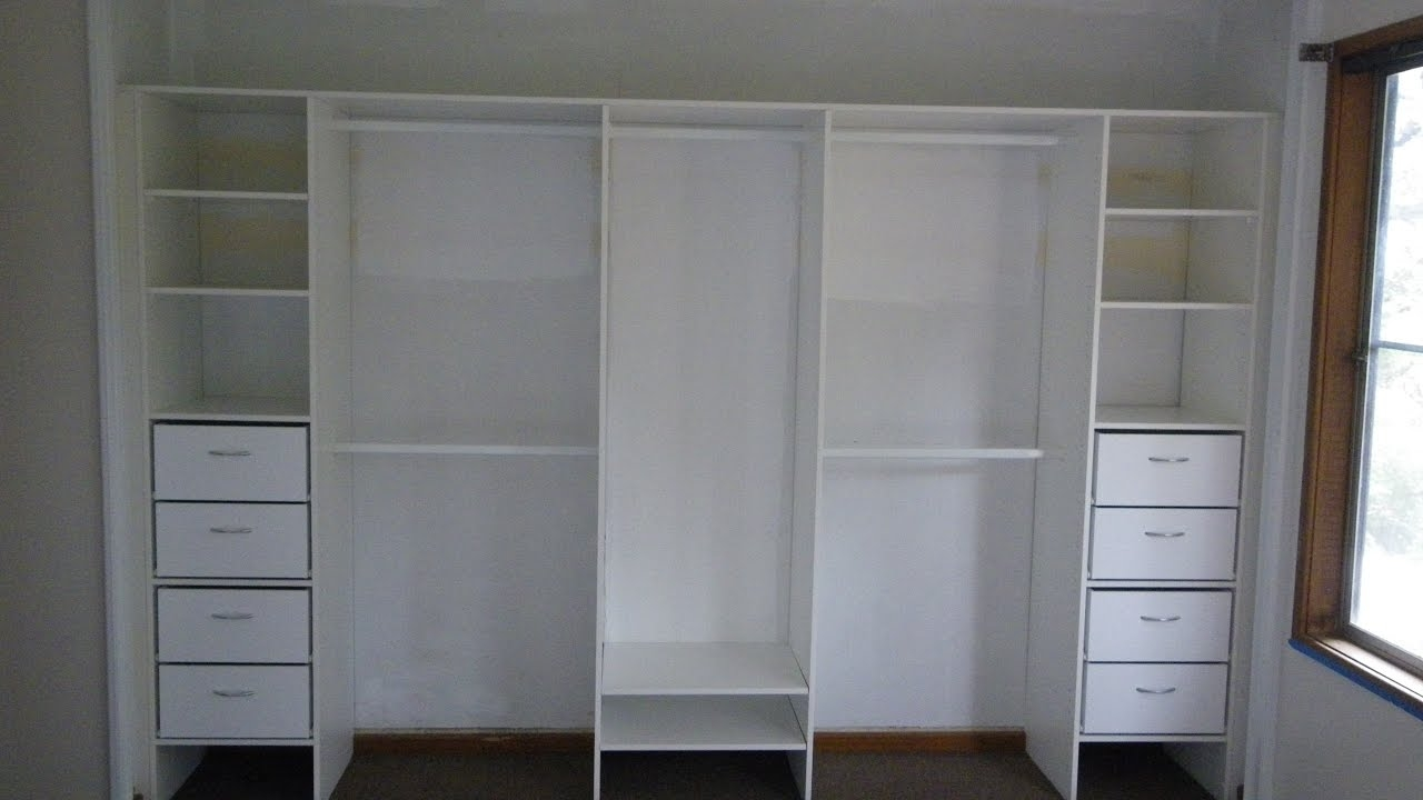 White Wardrobe With Drawers And Shelves Youtube In Wardrobe With Shelves (View 22 of 25)