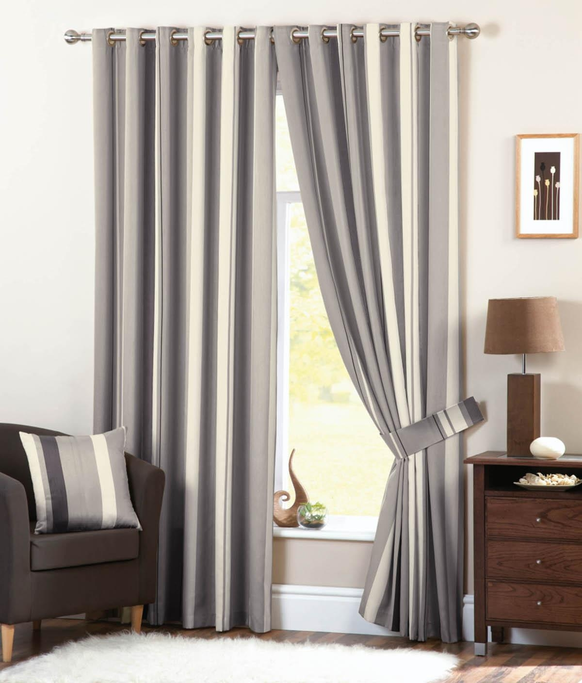 Whitworth Eyelet Curtains Silver Free Uk Delivery Terrys Fabrics With Grey Eyelet Curtains (Image 25 of 25)