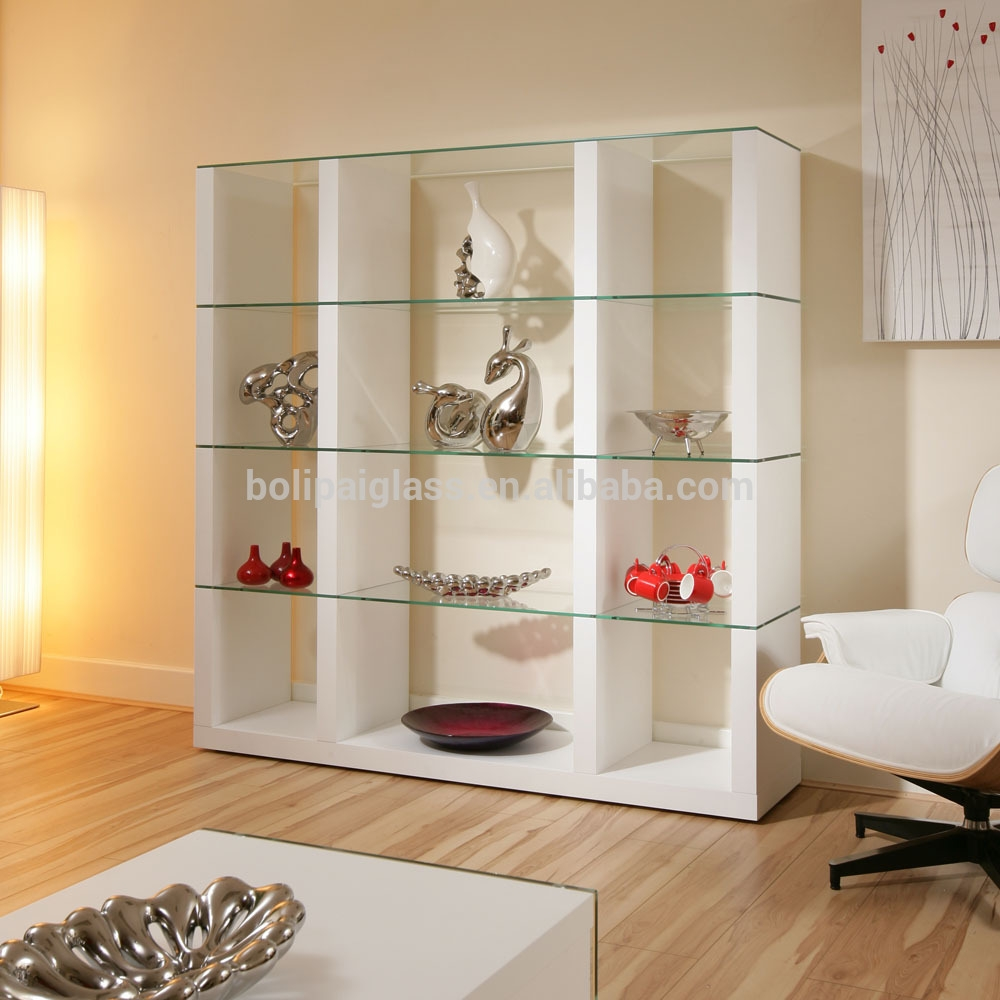 Wholesale Wall Mount Floating Glass Shelf For Living Room Buy Throughout Glass Shelves In Living Room (Image 15 of 15)