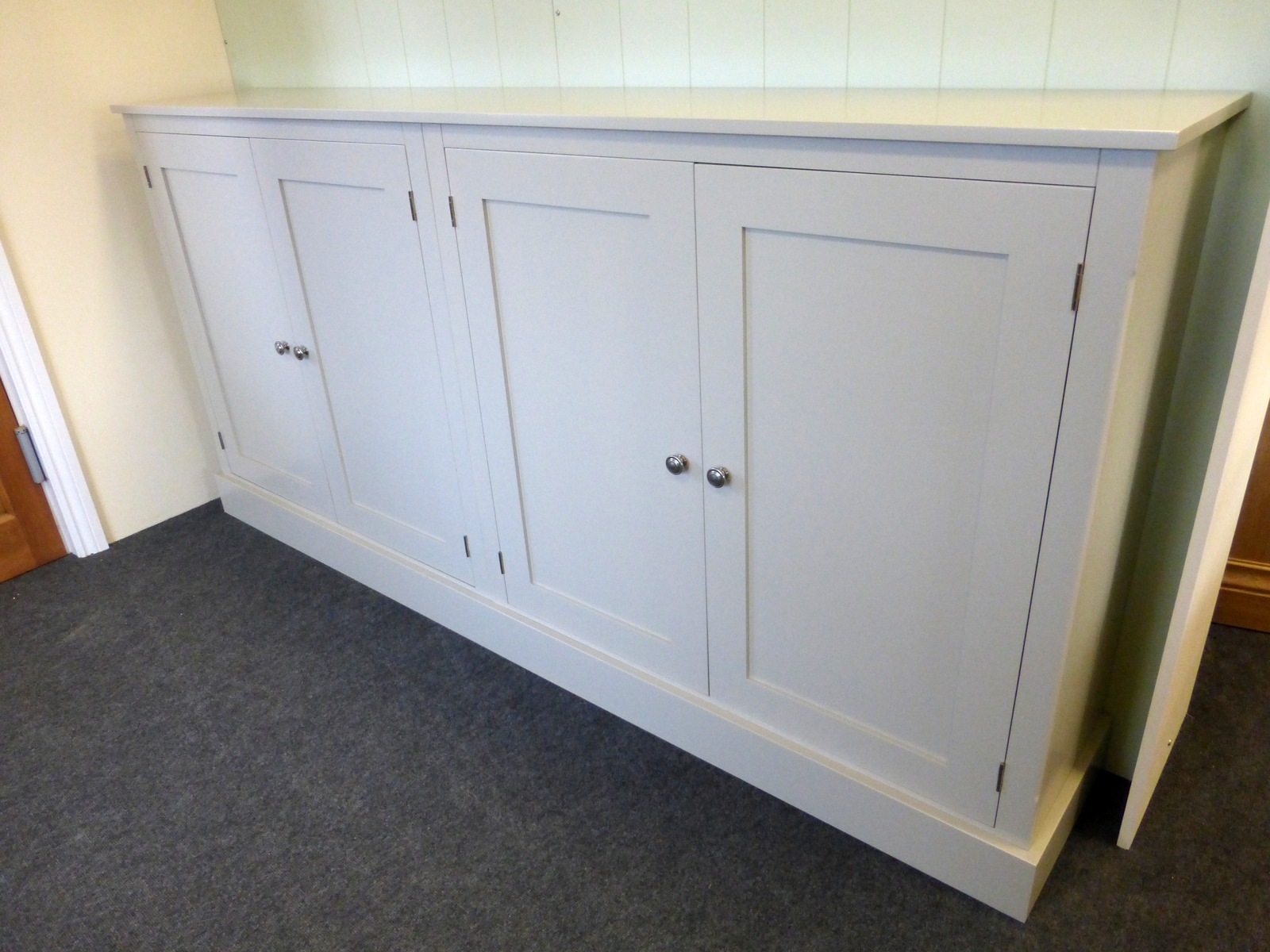Wide Four Door Storage Cupboard Cupboards Buy Pine Oak Intended For Bespoke Cupboards (Image 15 of 15)