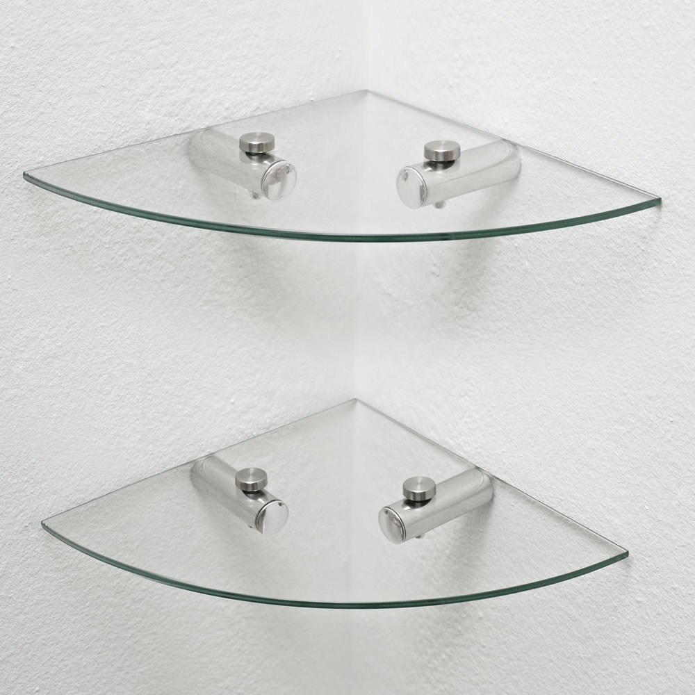 Featured Image of Glass Corner Shelves