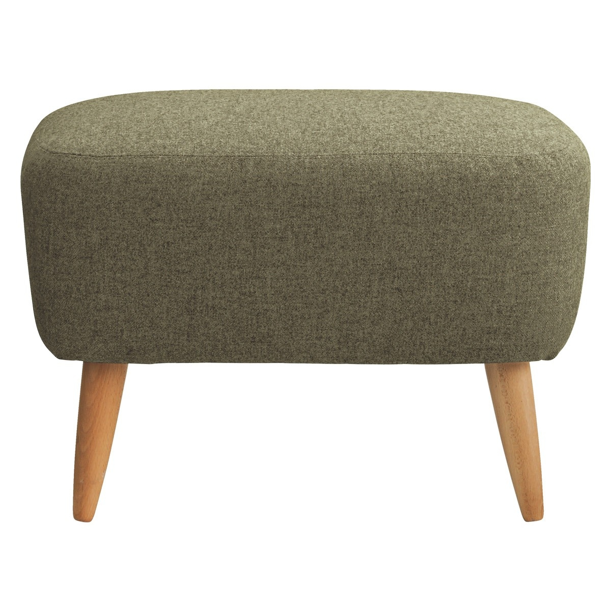 Wilmot Green Wool Mix Footstool Buy Now At Habitat Uk With Regard To Fabric Footstools (Image 15 of 15)