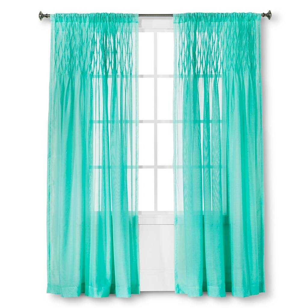 Window Coverings Everything Turquoise For Turquoise Trellis Curtains (Image 21 of 25)