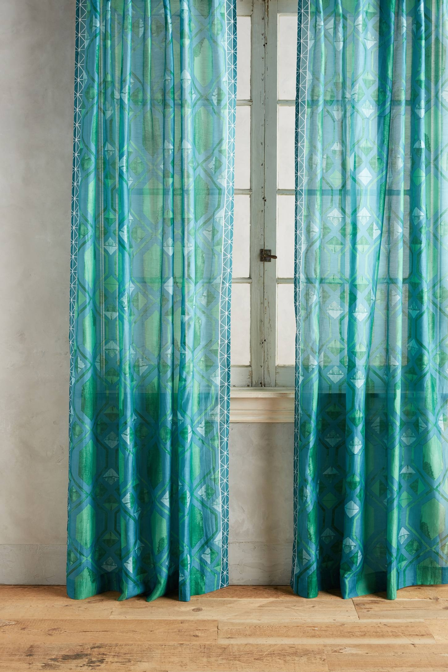 Window Coverings Everything Turquoise In Turquoise Trellis Curtains (Image 22 of 25)