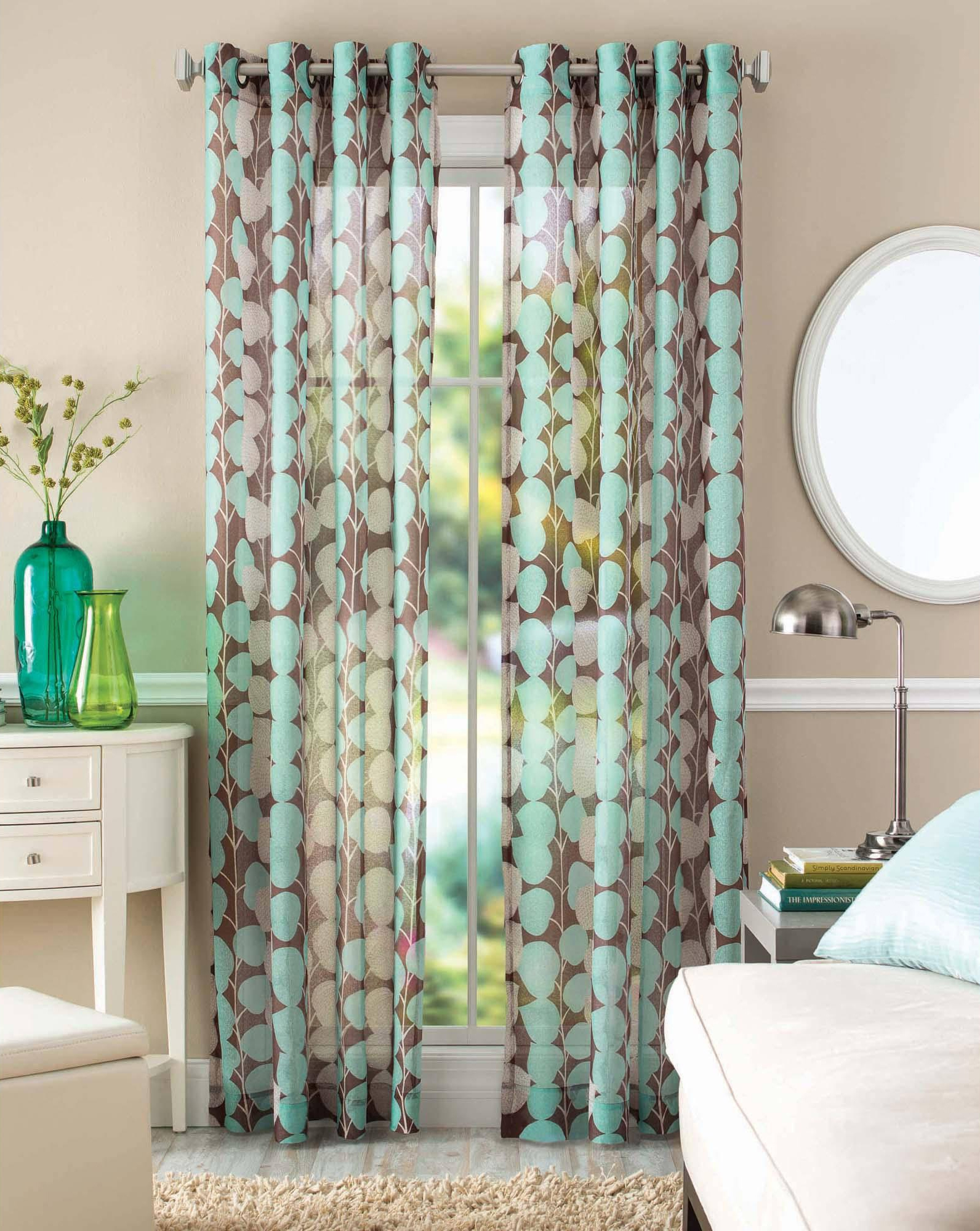 Window Coverings Everything Turquoise Page 2 Inside Turquoise Trellis Curtains (Image 23 of 25)