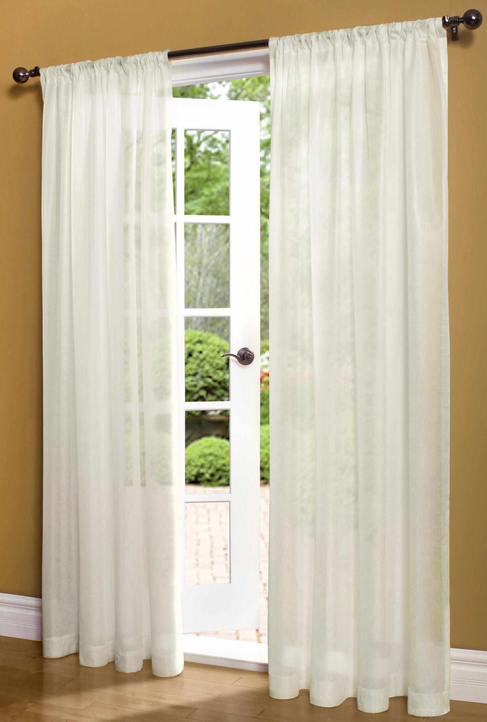 Window Cute Windows Decor Ideas With Window Sheers Lamosquitia Intended For Sheer White Curtain Panels (Image 23 of 25)