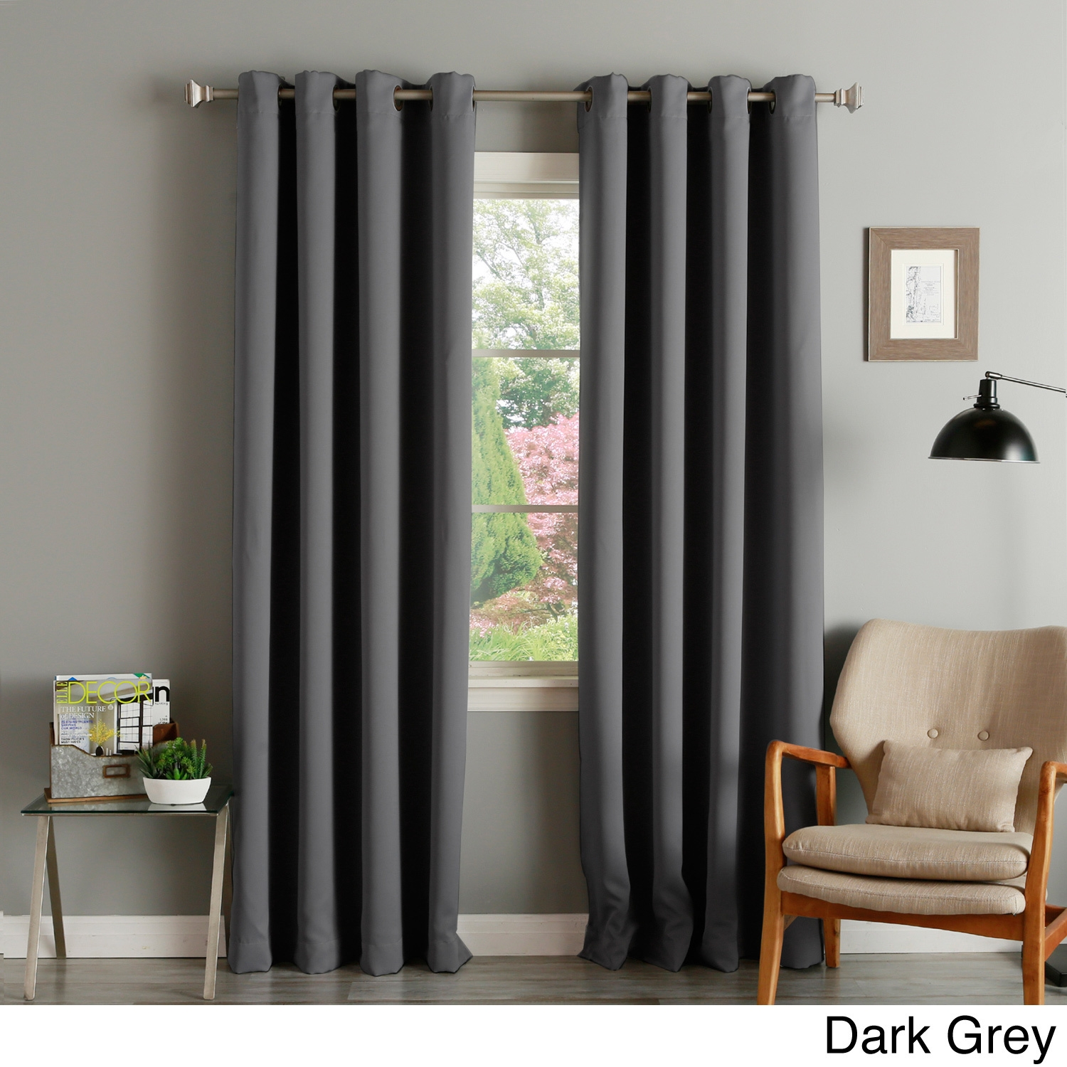 Window Dress Up Your Windows With Best Walmart Curtain Design Regarding Dark Grey Sheer Curtains (Image 25 of 25)
