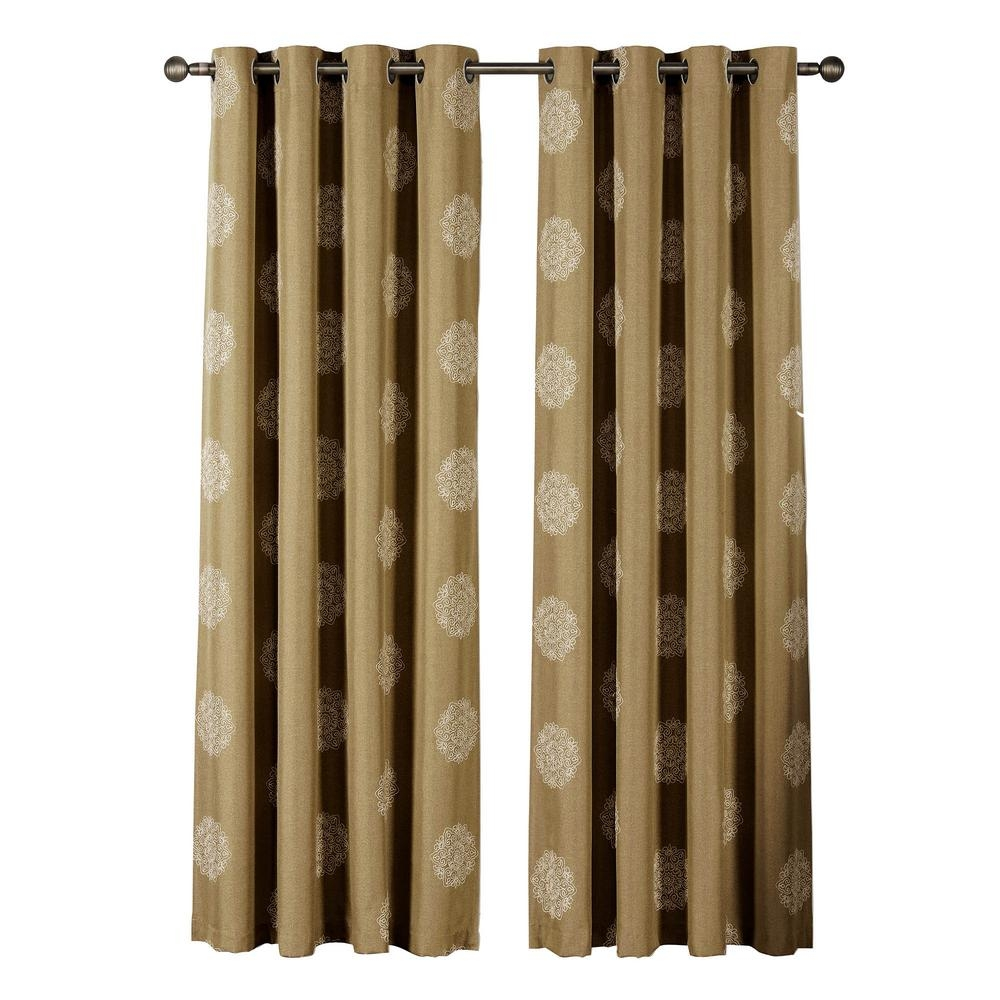 Window Elements Venice Embroidered Faux Linen Extra Wide 96 In L For Linen Grommet Curtains (Image 25 of 25)