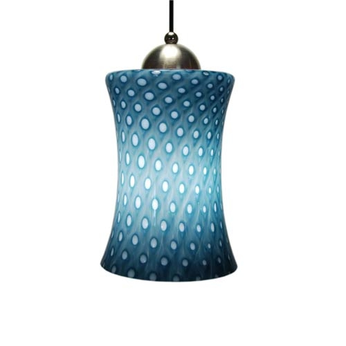 Wonderful Best Cobalt Blue Mini Pendant Lights For Aptos Pacific Hourglass Mini Pendant Union Street Glass Cord Mini (Image 20 of 25)