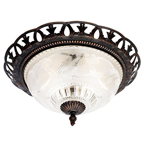 Wonderful Common Fleur De Lis Light Fixtures Throughout Brinks 7307 150 Hampton Fleur De Lis Flushmount Indoor Import It All (Image 25 of 25)