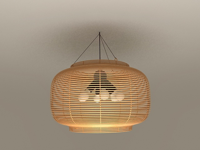 Wonderful Common Rattan Pendant Light Fixtures Intended For Rattan Pendant Light Fixtures 3d Model 3ds Max Files Free Download (Image 24 of 25)