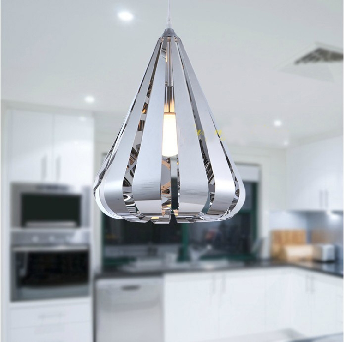 Wonderful Common Stainless Steel Pendant Light Fixtures Throughout Pendant Lamp Stainless Steel Water Drop Pendant Light New Modern (Image 21 of 25)