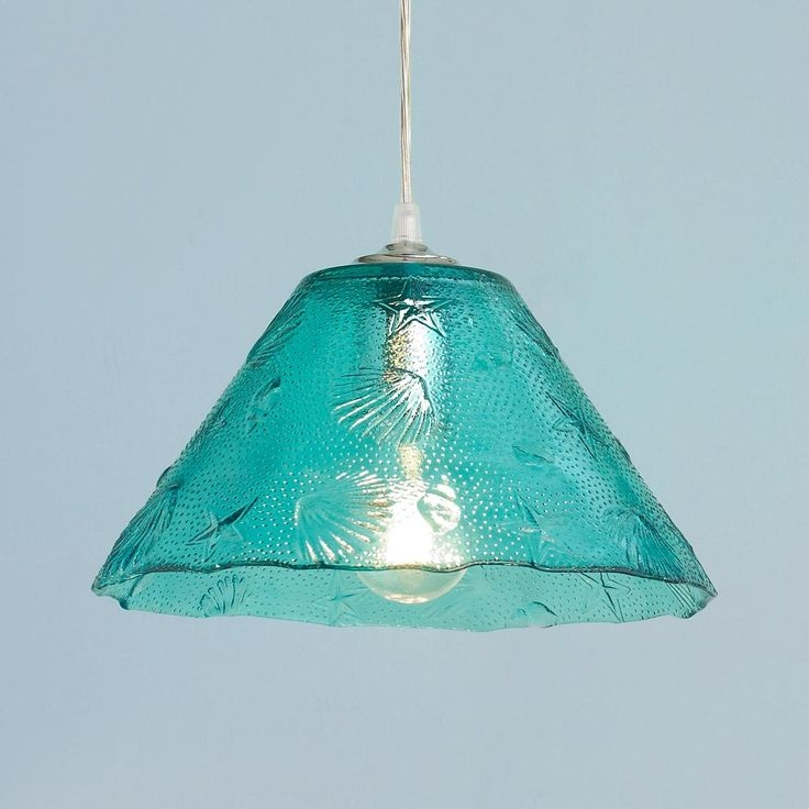 Wonderful Deluxe Aqua Glass Pendant Lights Within 105 Best Sea Glass Lighting Images On Pinterest (View 12 of 25)