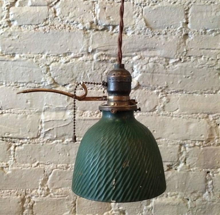 Wonderful Deluxe Pull Chain Pendant Lights With Petite Green X Ray Mercury Glass Pendant Light With Extension Arm (Image 24 of 25)