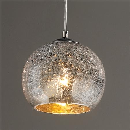 Wonderful Elite Crackle Glass Pendant Lights Inside Mini Crackled Mercury Bowl Pendant Light Minis Mercury And Pendants (Image 25 of 25)