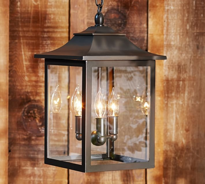 Wonderful Elite Outdoor Pendant Lights Inside Classic Indooroutdoor Pendant Pottery Barn (Image 23 of 25)