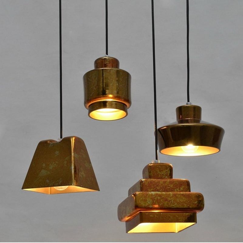 Wonderful Elite Retractable Pendant Lights Pertaining To Light Bulb Pendant Light Copper Glass Restaurant Pendant Light (Image 25 of 25)