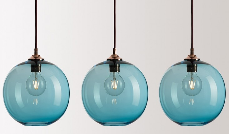 Wonderful Elite Turquoise Blue Glass Pendant Lights Intended For 10 Easy Pieces Colorful Glass Pendant Lights Remodelista (Image 24 of 25)