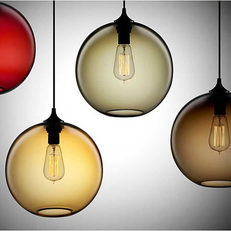 Wonderful Famous Coloured Glass Pendant Lights Pertaining To Aliexpress Buy Retro Vintage Pendant Lights Colours Glass (Image 25 of 25)
