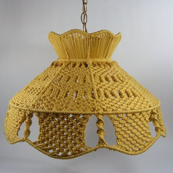 Wonderful Famous Macrame Pendant Lights Pertaining To 45 Best Lamp Shades Macrame Images On Pinterest (Image 23 of 25)