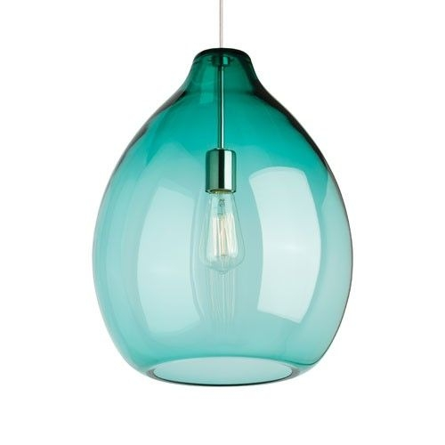 Wonderful Fashionable Turquoise Blue Glass Pendant Lights For 105 Best Sea Glass Lighting Images On Pinterest (Image 25 of 25)