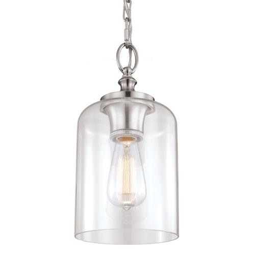 Wonderful Favorite Brushed Stainless Steel Pendant Lights Inside Stainless Steel Mini Pendant Lighting Bellacor (View 5 of 25)