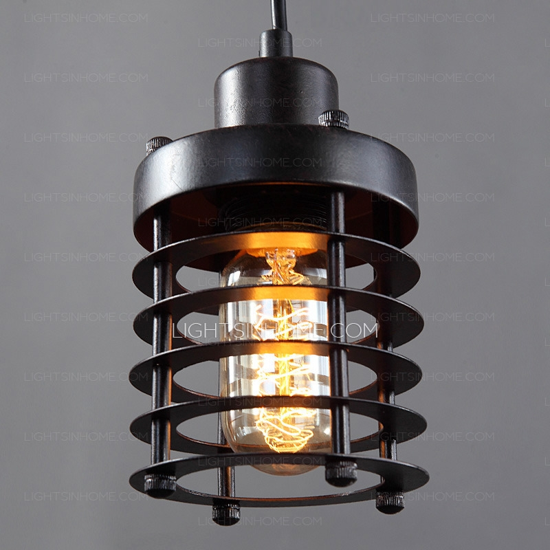 Wonderful Favorite Wrought Iron Pendant Lights With Antique Wrought Iron E26e27 Industrial Pendant Light Fixtures (Photo 25 of 25)