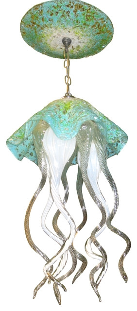 Wonderful High Quality Jellyfish Inspired Pendant Lights Intended For Blown Glass Chandelier Art Glass Chandelier Lighting (View 16 of 25)