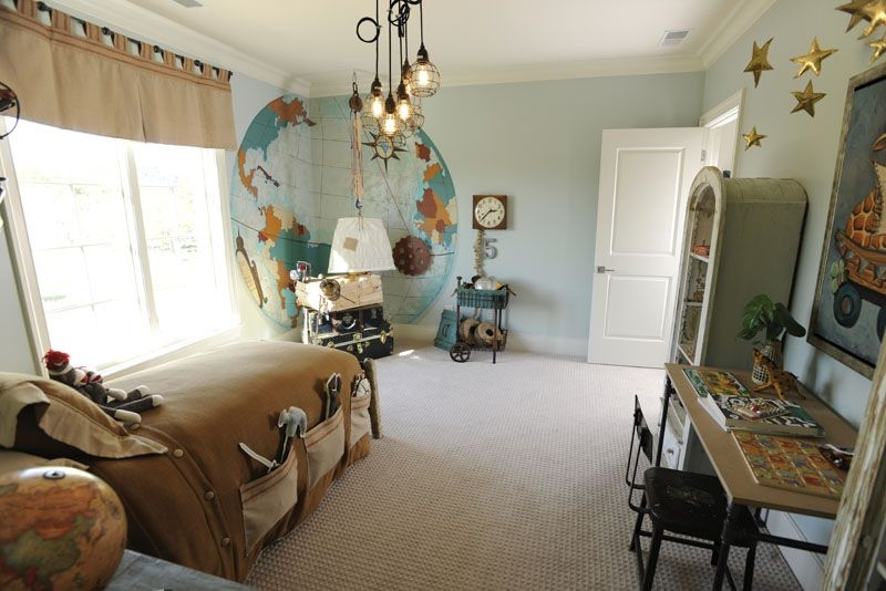 Wonderful High Quality Paxton Glass 3light Pendants Pertaining To Traditional Kids Bedroom With Specialty Door Mural Zillow Digs (Image 23 of 25)