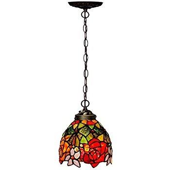 Wonderful High Quality Stained Glass Mini Pendant Lights For Portfolio Flora 85 In W Art Nouveau Bronze Mini Pendant Light (Image 24 of 25)