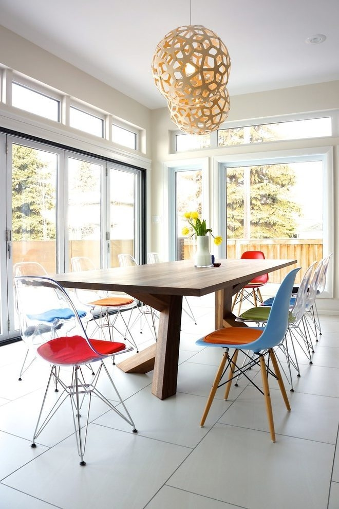Wonderful Latest Coral Replica Pendant Lights With Regard To Coral Replica Dining Room Contemporary With Eames Chair Replica (Image 23 of 25)