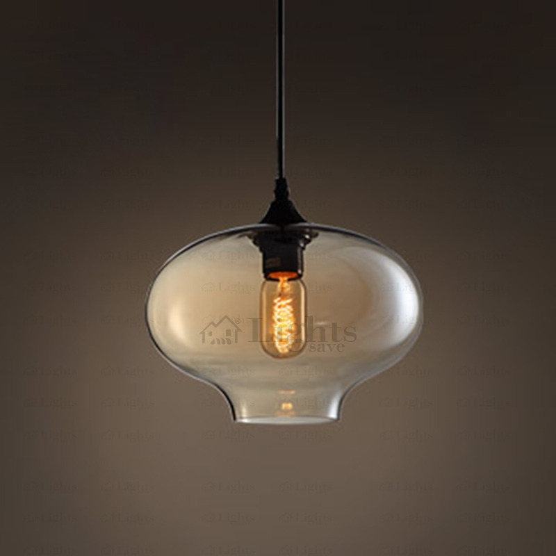 Wonderful Latest Hand Blown Glass Pendant Lights Pertaining To Round Shape Hand Blown Glass Pendant Lights Industrial (Image 22 of 25)