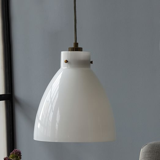 Wonderful Latest Milk Glass Pendant Lights Within Industrial Glass Pendant Milk West Elm (Image 23 of 25)