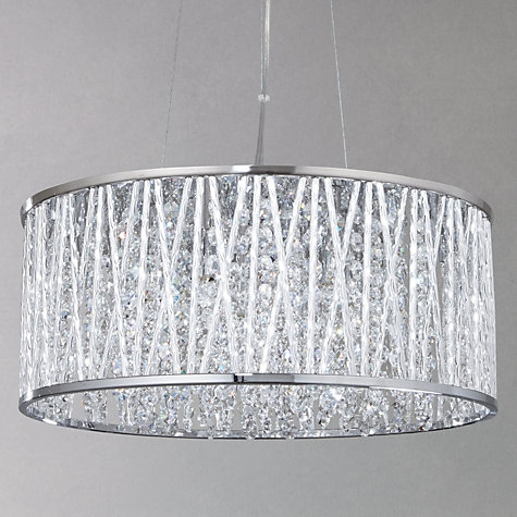 Wonderful New Black Pendant Light With Crystals For Buy John Lewis Emilia Drum Crystal Pendant Light Online At (Image 23 of 25)
