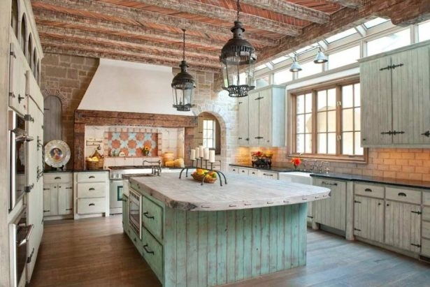 Wonderful New French Style Glass Pendant Lights In Kitchen Design 20 Fantastic Photos Rustic French Kitchen Design (Image 25 of 25)