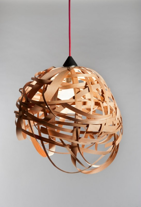 Wonderful New Wood Veneer Lighting Pendants Intended For Nest Veneer Wood Light Fixture Id Lights (View 19 of 25)