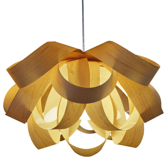 Wonderful New Wood Veneer Pendant Lights Inside The Warm Glow Of Wood Lighting (View 2 of 25)