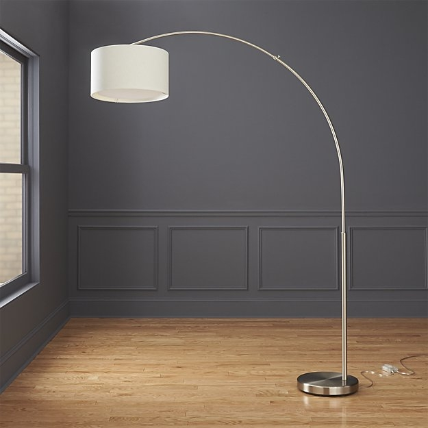 Wonderful Premium Cb2 Light Fixtures Pertaining To Big Dipper Silver Arc Floor Lamp Cb (View 25 of 25)