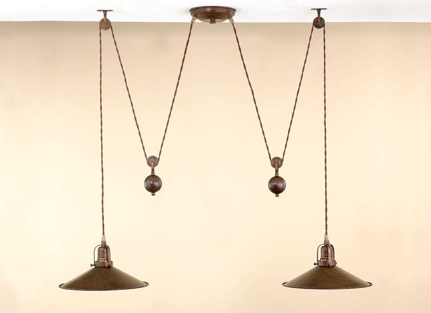 Wonderful Premium Double Pulley Pendant Lights With Inspiring Pulley Pendant Light Vintage Ceiling Lights That Are On (Image 22 of 25)