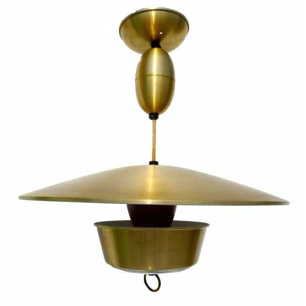 Wonderful Premium Pull Down Pendant Lights Inside Lightolier Adjustable Height Brass Light Fixture At 1stdibs (Image 24 of 25)