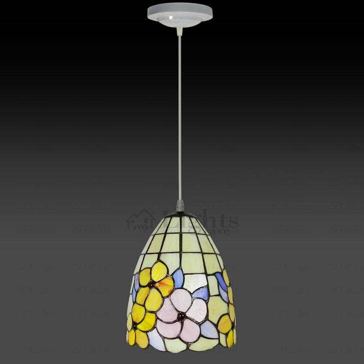 Wonderful Premium Stained Glass Mini Pendant Lights With Quality Floral Stained Glass Tiffany Mini Pendant Light (Image 25 of 25)